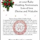 Personalised Ruby Anniversary Flower Seeds Gift