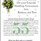 Personalised Emerald Anniversary Flower Seeds Gift