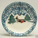 Tienshan Folk Craft Cabin in the Snow Dinner Plate