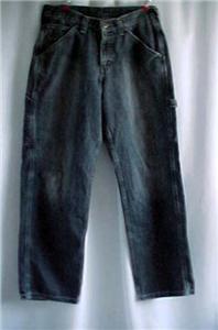 Vintage Loose Fit LEE Carpenter Jeans Dungarees - 29/30