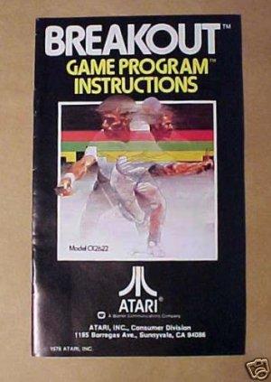 ATARI BREAKOUT Game Instructions - 1978 - MINT!!!