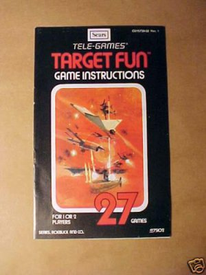 SEARS Tele-Games TARGET FUN Game Instructions 1977 MINT