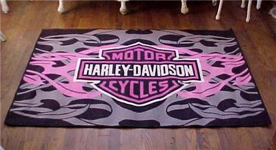 Vintage Harley Davidson Motorcycles Rug American