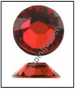 LIGHT SIAM Red Swarovski NEW 2058 Crystal Flatback Rhinestones 144 pcs 2.5mm 9ss
