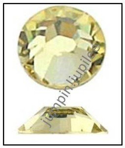 JONQUIL Yellow Swarovski Flatback 2028 Crystal Rhinestones 36 pieces 5mm 20ss