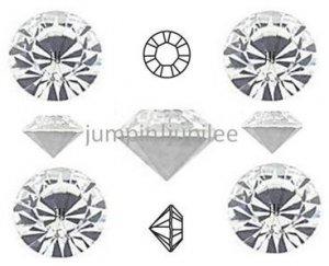 pp24 Crystal Clear Swarovski 1028 Chaton Pointed Back Rhinestones 144 pcs 3mm