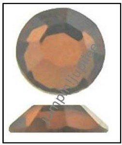 SMOKED TOPAZ Swarovski Flatback 2028 Crystal Rhinestones 12 pieces 5mm 20ss