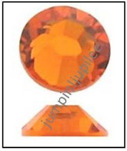 SUN Orange Swarovski Crystal Flatback 2028 Rhinestones 144 pieces 1.8mm 5ss