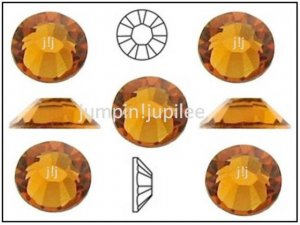 TOPAZ Gold Orange Swarovski Flatback 2028 Crystal Rhinestones 72 pieces 5mm 20ss