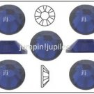 DARK INDIGO Blue Swarovski Crystal Flatback 2028 Rhinestones 144 pieces 2mm 7ss