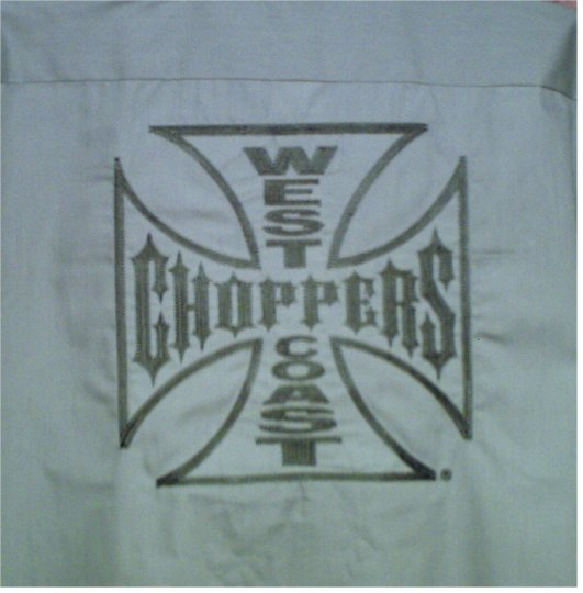Brand New Men's Authentic Jesse James West Coast Choppers Work Wear Short Sleeved Shirt XL