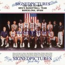 MICHAEL JORDAN LARRY BIRD PIPPEN EWING BARKLEY 1992 NBA DREAM TEAM SIGNED AUTOGRAPHED PHOTO