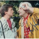 BACK TO THE FUTURE AUTOGRAPHED 8x10 RP PHOTO MICHAEL J FOX AND CHRISTOPHER LLOYD
