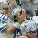 TROY AIKMAN EMMITT SMITH AND MICHAEL IRVIN SIGNED AUTOGRAPHED RP PHOTO DALLAS COWBOYS
