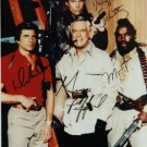 THE A TEAM CAST AUTOGRAPHED RP PHOTO A-TEAM ALL 4 PEPPARD MR T SCHULTZ BENEDICT