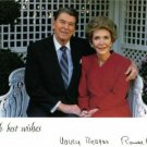 US PRESIDENT RONALD AND NANCY REAGAN SIGNED AUTOGRAPH 8x10 RP PHOTO