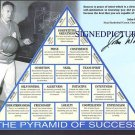 JOHN WOODEN AUTOGRAPHED AUTOGRAPH SIGNED 8x10 RP PHOTO PYRAMID OF SUCCESS UCLA
