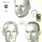 NEIL ARMSTRONG BUZZ ALDRIN AND MICHAEL COLLINS SIGNED AUTOGRAPHED 8x10 RP PHOTO APOLLO 11