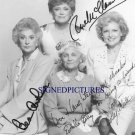 THE GOLDEN GIRLS CAST SIGNED AUTOGRAPHED 8x10 RP PHOTO BEA ARTHUR BETTY WHITE ESTELLE RUE + ALL 4