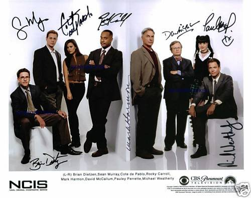 NCIS SIGNED AUTOGRAPHED RP PHOTO by 8 ALL NEW FULL CAST