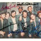 M*A*S*H FULL CAST SIGNED RP PHOTO MASH by 8 STEVENSON FARR SWIT RODGERS LINVILLE