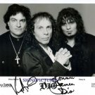 DIO GROUP SIGNED AUTOGRAPHED 8x10 RP PHOTO VINNY APPICE AND RONNIE JAMES