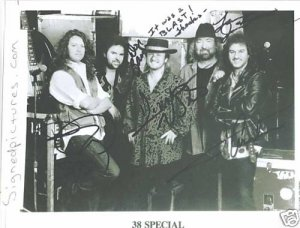 38 SPECIAL GROUP BAND SIGNED AUTOGRAPHED RP PHOTO ALL 5