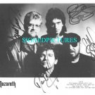 NAZARETH GROUP BAND SIGNED AUTOGRAPHED RP PHOTO ALL 4