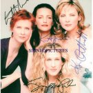 SEX AND THE CITY CAST SIGNED AUTOGRAPHED RP PHOTO ALL 4