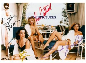 SEX AND THE CITY CAST SIGNED AUTOGRAPHED RP PHOTO SEXY
