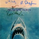 JAWS CAST SIGNED AUTOGRAPHED 8X10 RP PHOTO ROY SCHEIDER BENCHLEY DREYFUS
