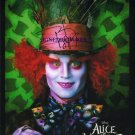 JOHNNY DEPP SIGNED RP PHOTO ALICE WONDERLAND MAD HATTER