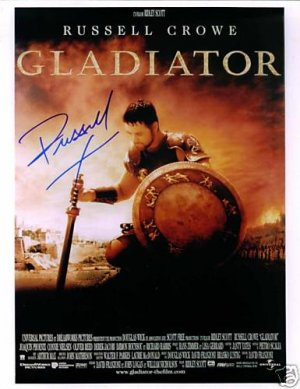 RUSSELL CROWE SIGNED AUTOGRAPHED RP PHOTO GLADIATOR