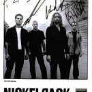 NICKELBACK BAND GROUP SIGNED AUTOGRAPHED 8x10 RP PHOTO ALL 4