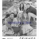 FRIENDS CAST SIGNED AUTOGRAPHED RP PROMO PHOTO AT BEACH