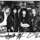 MEGADETH SIGNED AUTOGRAPH AUTOGRAM 8X10 RP PHOTO MEGADEATH NICK MENZA MUSTAINE FRIEDMAN ELLEFSON