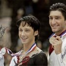 EVAN LYSACEK JOHNNY WEIR SIGNED AUTOGRAPHED RP OLYMPICS