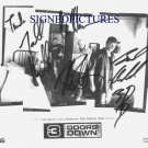 3 THREE DOORS DOWN BAND SIGNED AUTOGRAPHED 8X0 RP PHOTO SUPERMAN KRYPTONITE