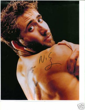 NICHOLAS CAGE SIGNED AUTOGRAPHED RP PHOTO COOL TATTOO