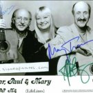 PETER PAUL AND MARY SIGNED AUTOGRAPHED RP PHOTO