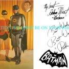BATMAN AND ROBIN ADAM WEST AND BURT WARD AUTOGRAPHED AUTOGRAPH 6x9 RP PROMO PHOTO