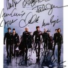 X-MEN 2 CAST BY 10 SIGNED RP PHOTO XMEN BERRY JACKMAN +