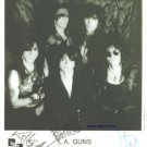 LA GUNS GROUP SIGNED AUTOGRAPHED RP PHOTO L.A. TRACI +