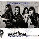 MOTORHEAD SIGNED AUTOGRAPHED 8x10 RP PHOTO LEMMY CAMPBELL WURZEL + MOTOR HEAD