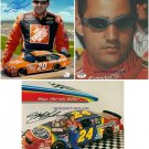 LOT NASCAR SIGNED RP PHOTOS JEFF GORDON TONY STEWART +