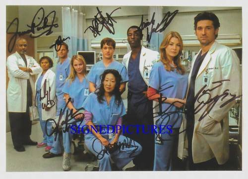 GREYS ANATOMY CAST 9 SIGNED AUTOGRAPHED 8X10 RP PHOTO GRAYS