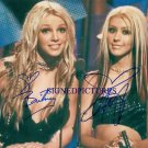 BRITNEY SPEARS AND CHRISTINA AGUILERA SIGNED AUTOGRAPHED 8x10 PHOTO