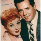 I LOVE LUCY LUCILLE BALL AND DESI ARNAZ SIGNED AUTOGRAPH 8X10 RPT PHOTO