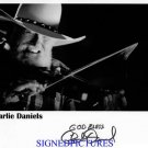 CHARLIE DANIELS SIGNED RP PHOTO GREAT COUNTRY ARTIST