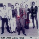 HUEY LEWIS AND THE NEWS GROUP SIGNED RP PHOTO CLASSIC